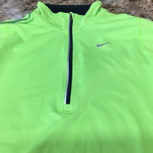 Nike running top neon green and blue